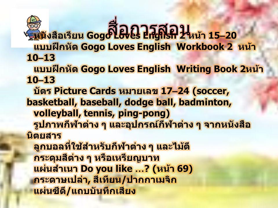 สื่อการสอน หนังสือเรียน Gogo Loves English 2 หน้า 15–20
