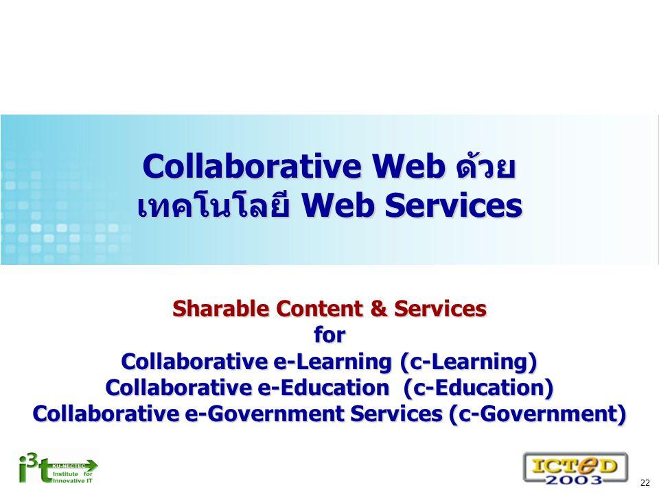 Collaborative Web ด้วย เทคโนโลยี Web Services