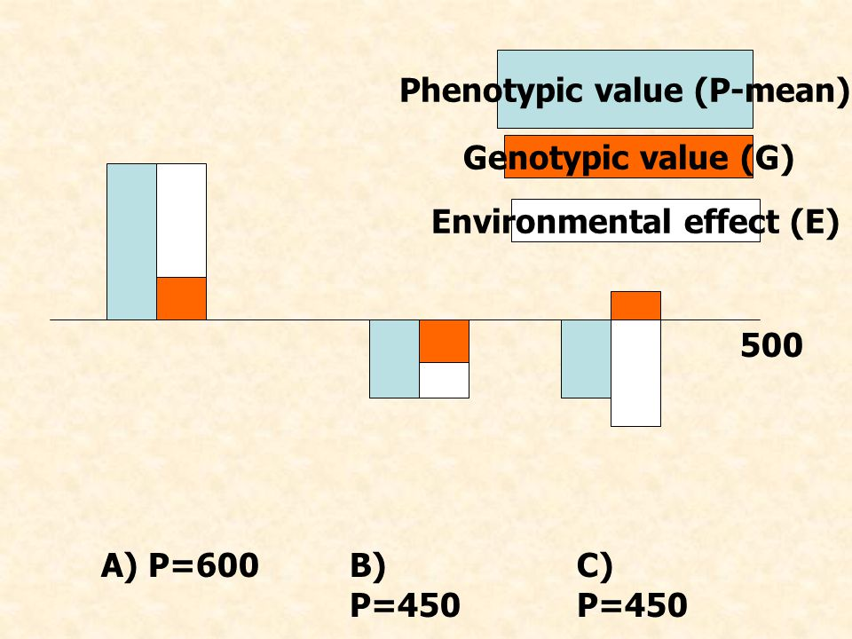 Phenotypic value (P-mean) Environmental effect (E)