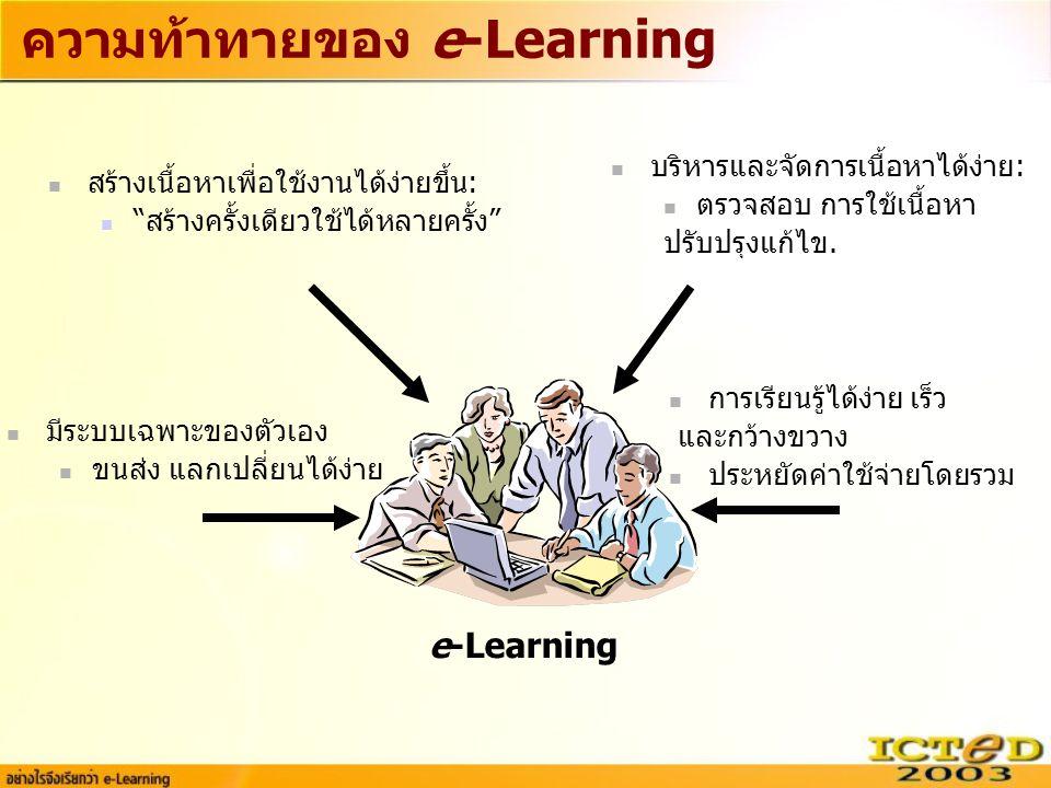 ความท้าทายของ e-Learning