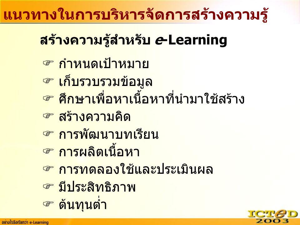 แนวทางในการบริหารจัดการสร้างความรู้