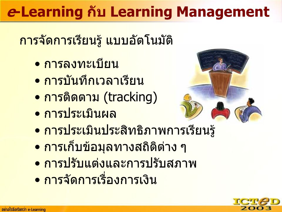 e-Learning กับ Learning Management