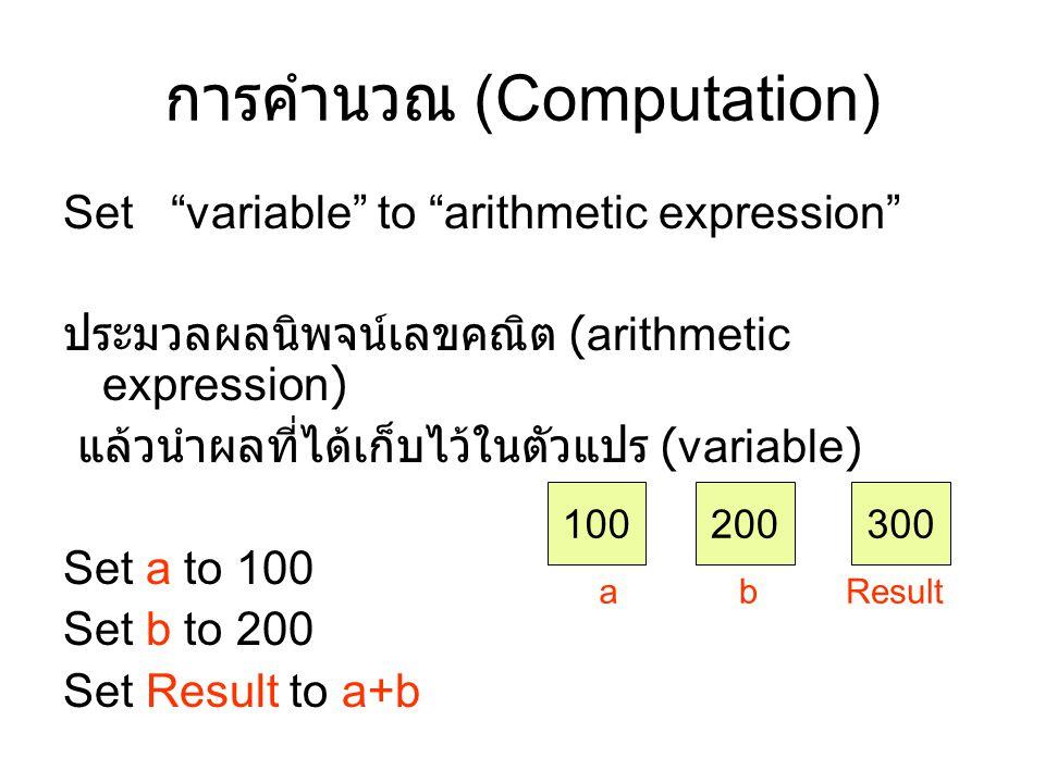 การคำนวณ (Computation)