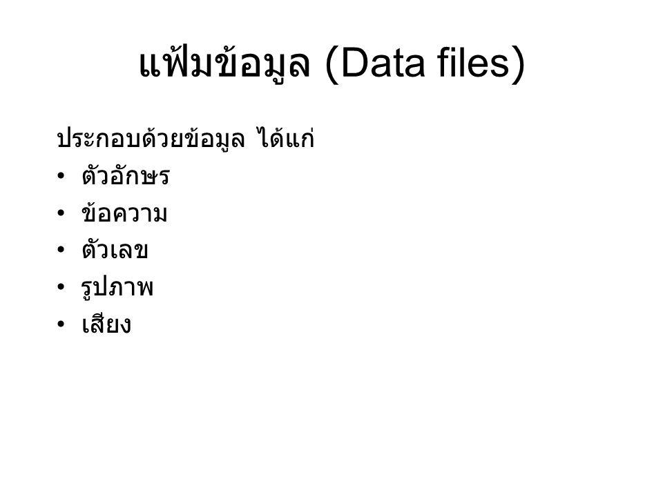 แฟ้มข้อมูล (Data files)