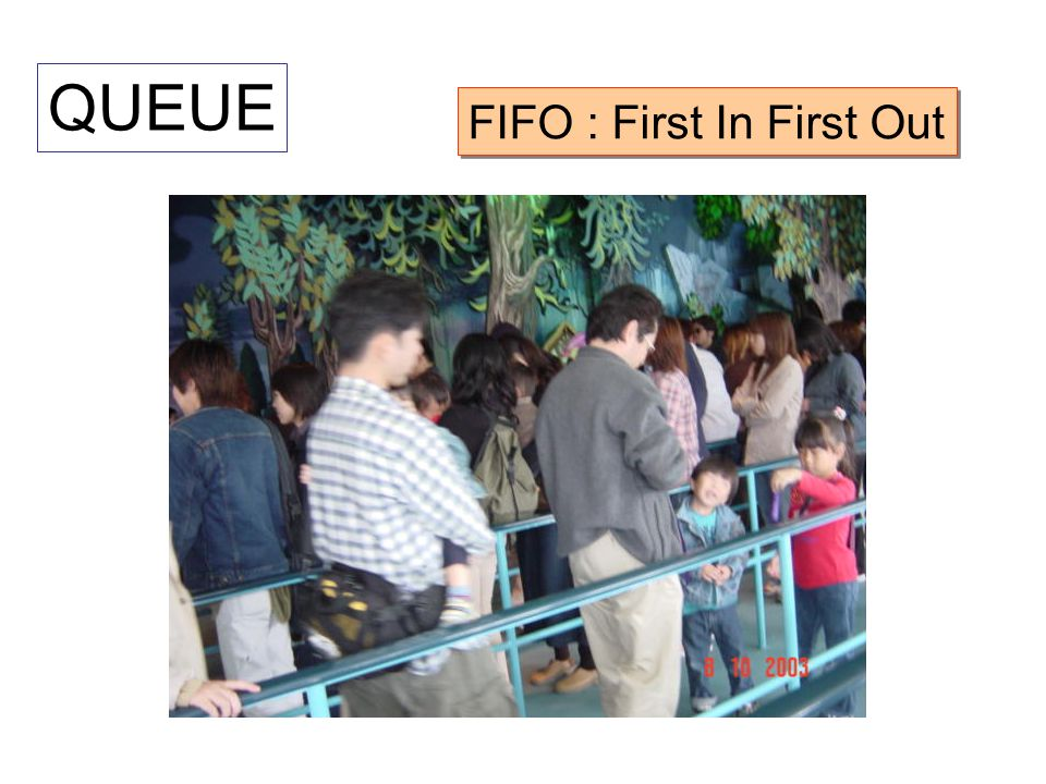QUEUE FIFO : First In First Out
