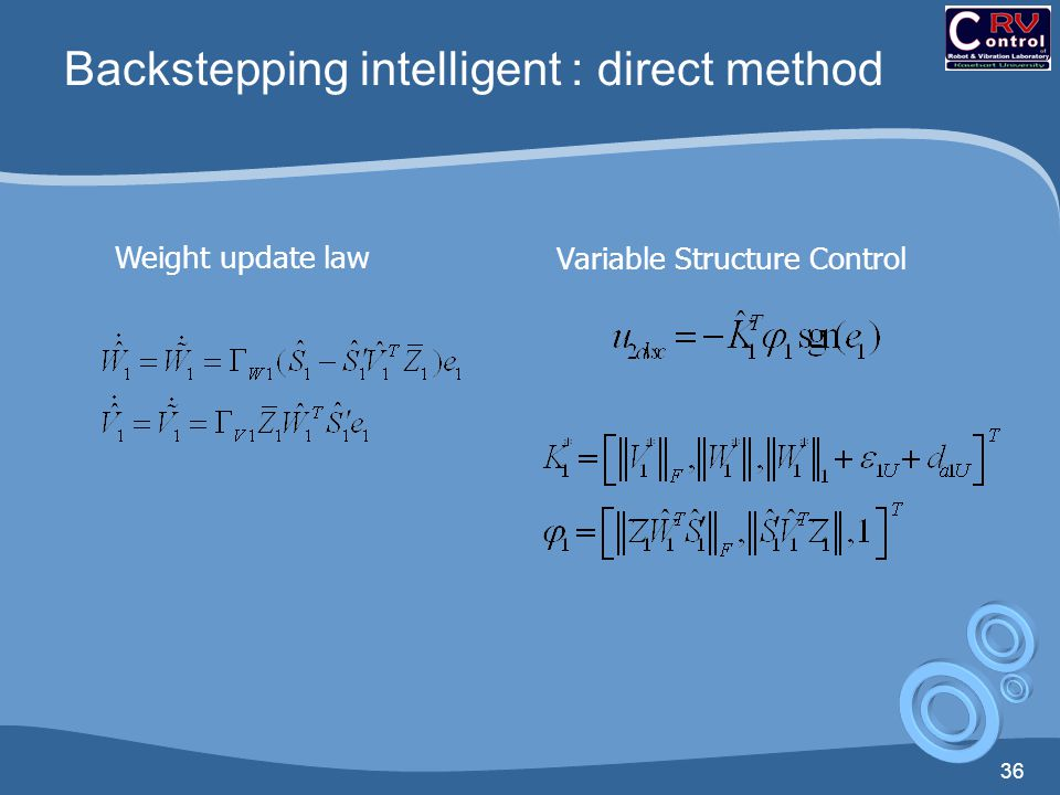 Backstepping intelligent : direct method
