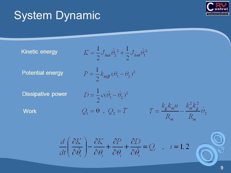 System Dynamic Kinetic energy Potential energy Dissipative power Work