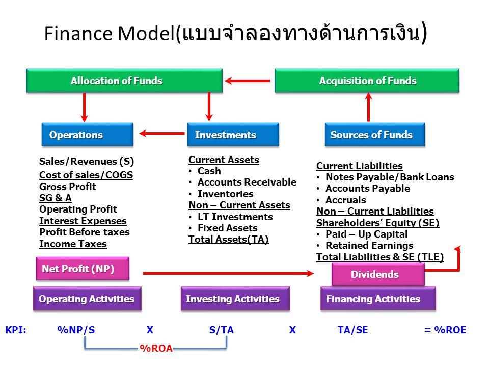 Finance Model(แบบจำลองทางด้านการเงิน)