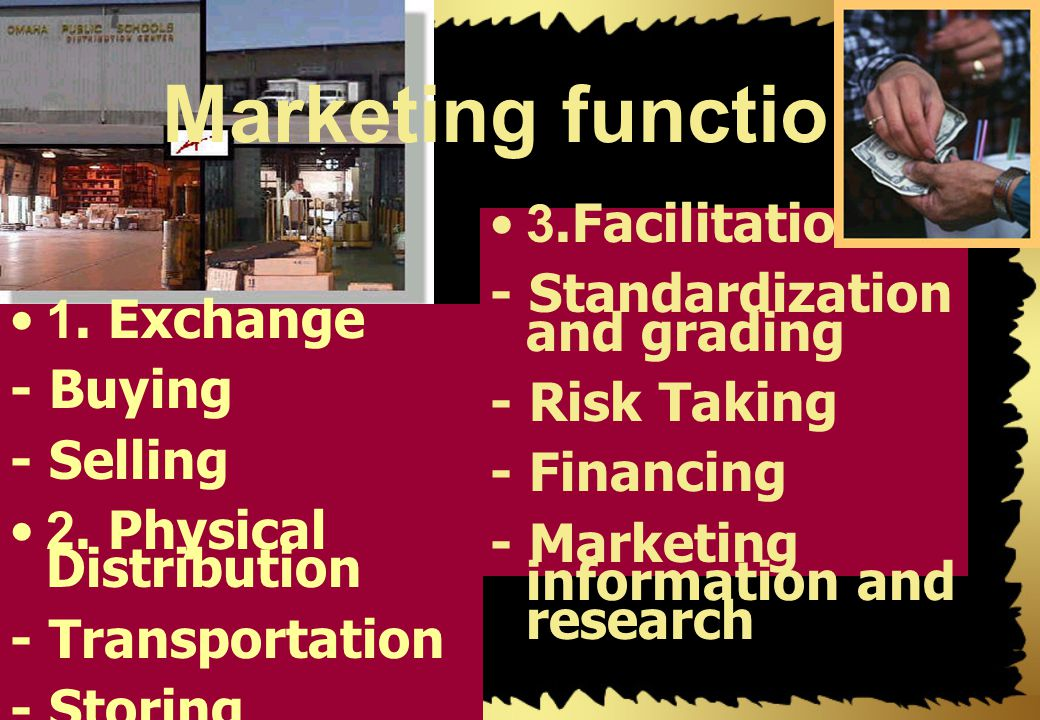 Marketing function 3.Facilitation - Standardization and grading