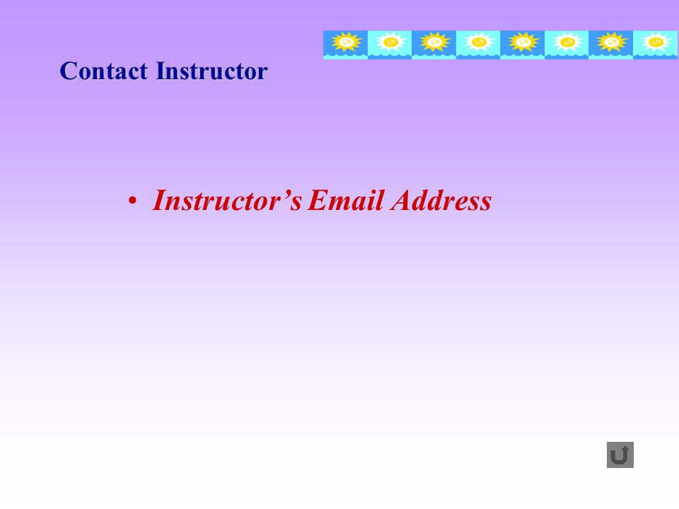 Instructor's  Address