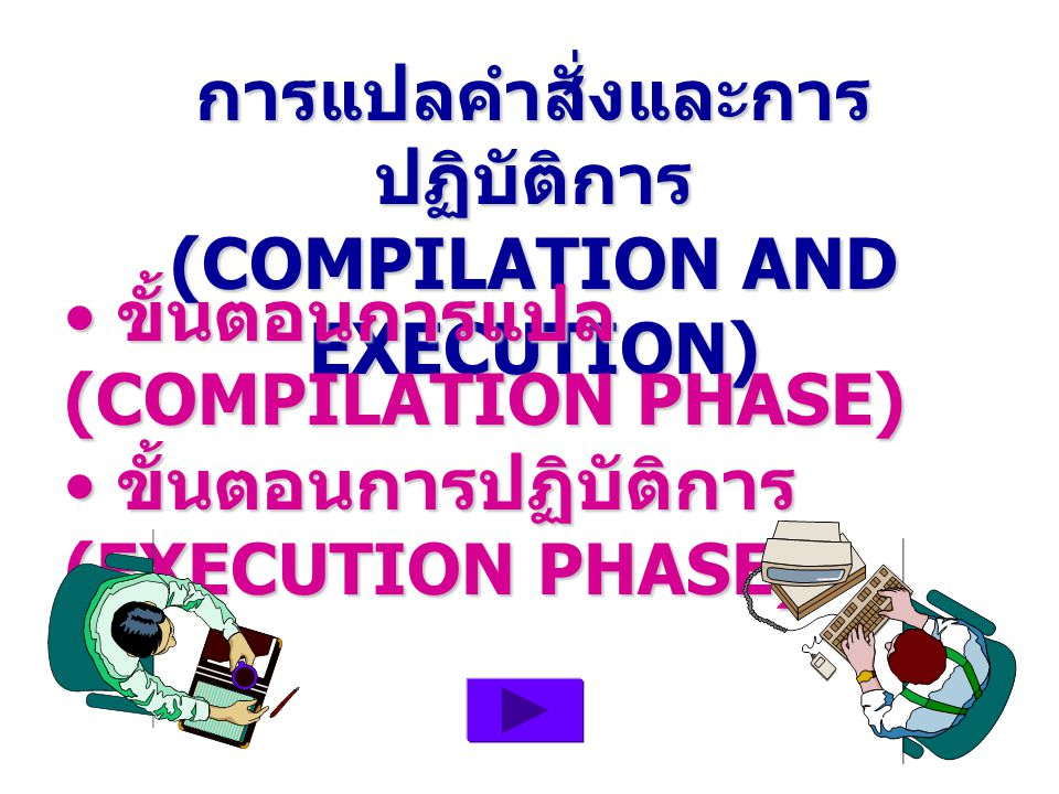 การแปลคำสั่งและการปฏิบัติการ (COMPILATION AND EXECUTION)