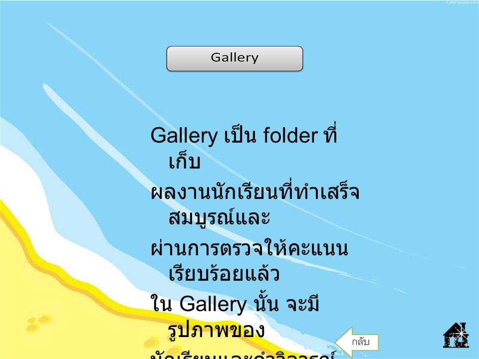 Gallery เป็น folder ที่เก็บ