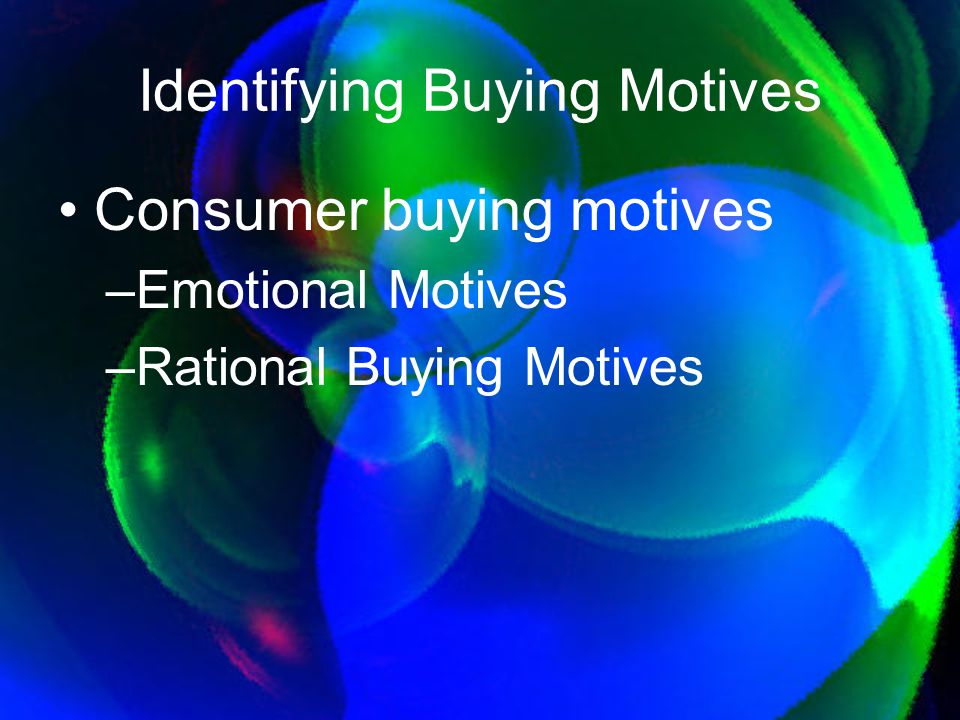 Identifying Buying Motives