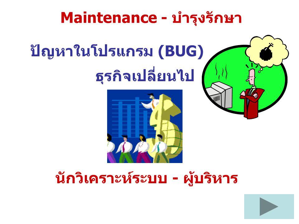 Maintenance - บำรุงรักษา