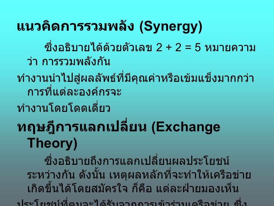 แนวคิดการรวมพลัง (Synergy)