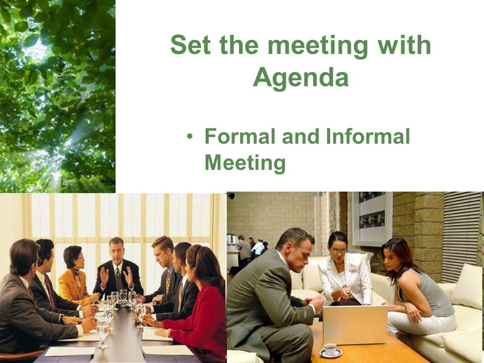 Set the meeting with Agenda
