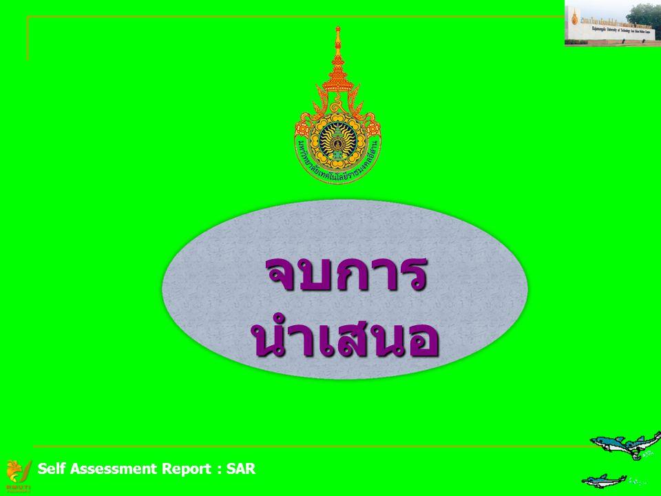 จบการนำเสนอ Self Assessment Report : SAR
