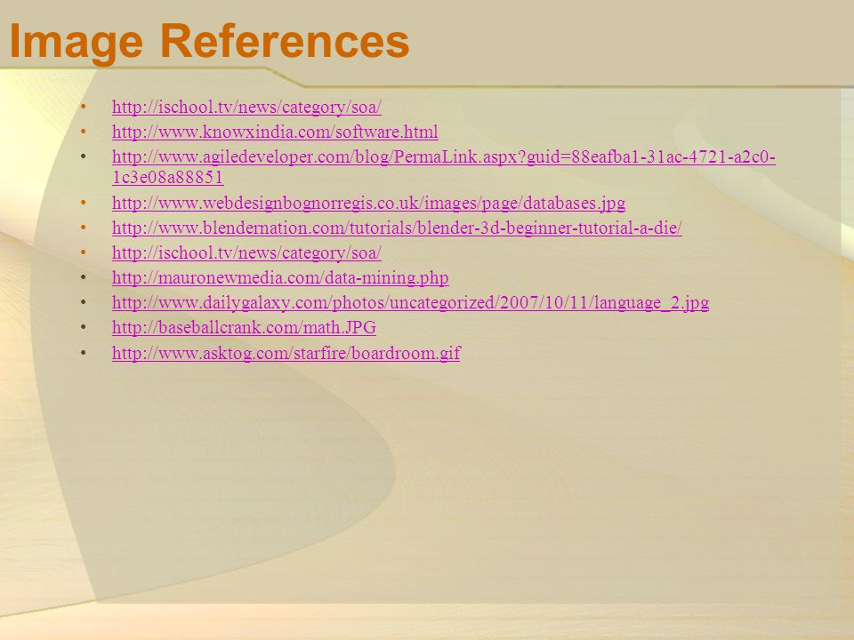 Image References http://ischool.tv/news/category/soa/