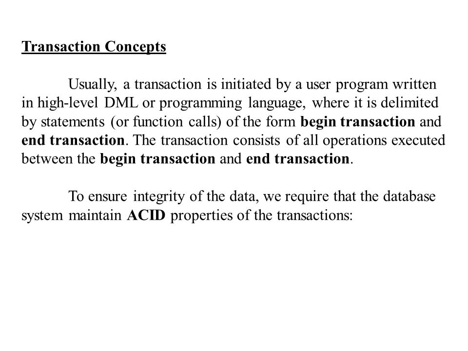 Transaction Concepts