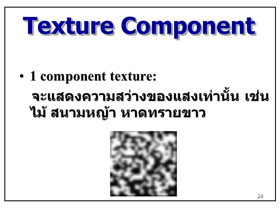 Texture Component 1 component texture:
