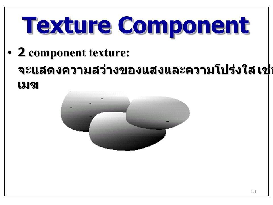 Texture Component 2 component texture: