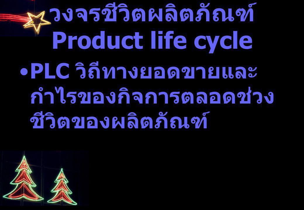 วงจรชีวิตผลิตภัณฑ์ Product life cycle