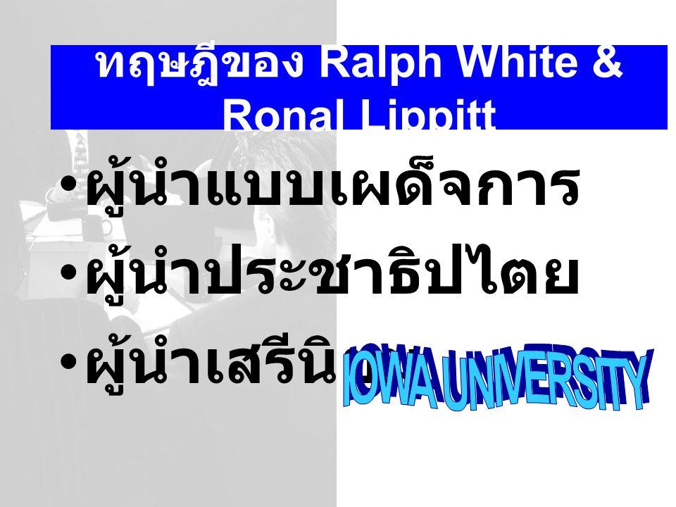 ทฤษฎีของ Ralph White & Ronal Lippitt