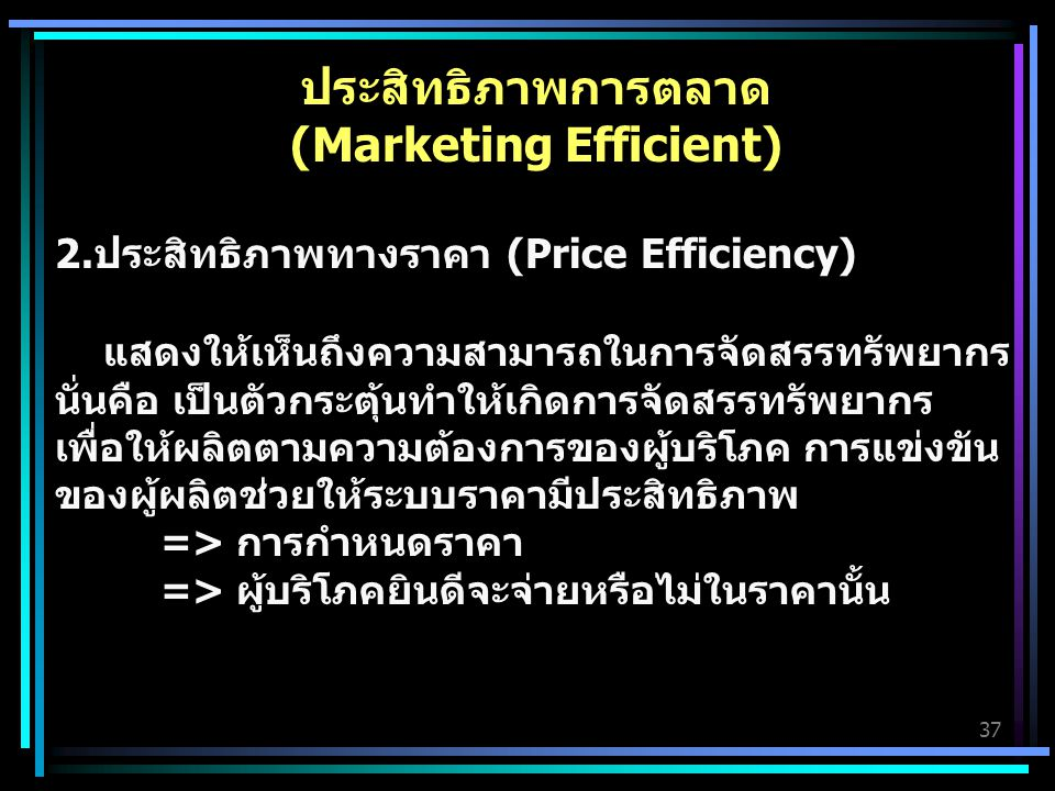 (Marketing Efficient)