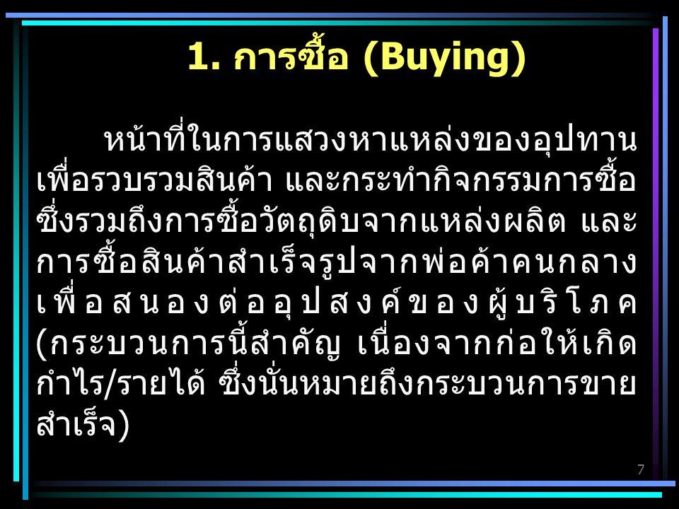 1. การซื้อ (Buying)