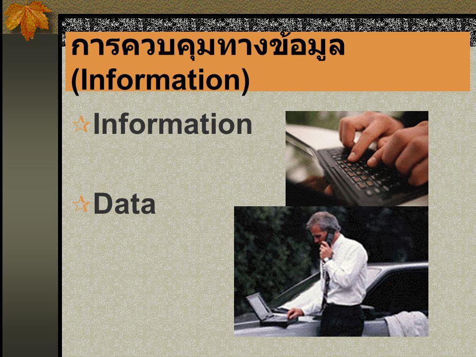 การควบคุมทางข้อมูล (Information)