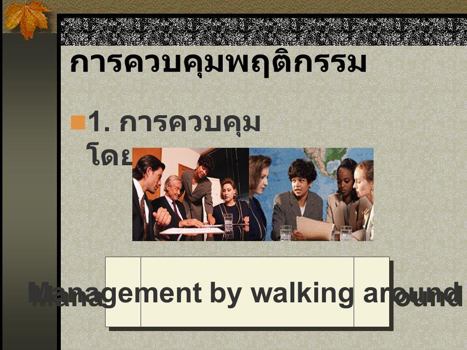 Management by walking around