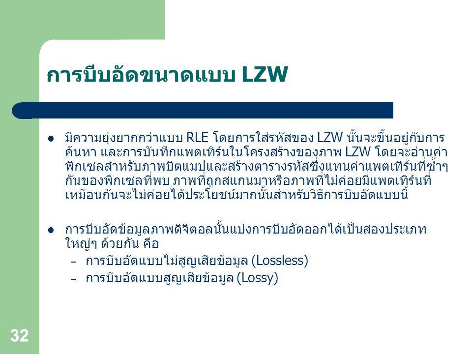 การบีบอัดขนาดแบบ LZW