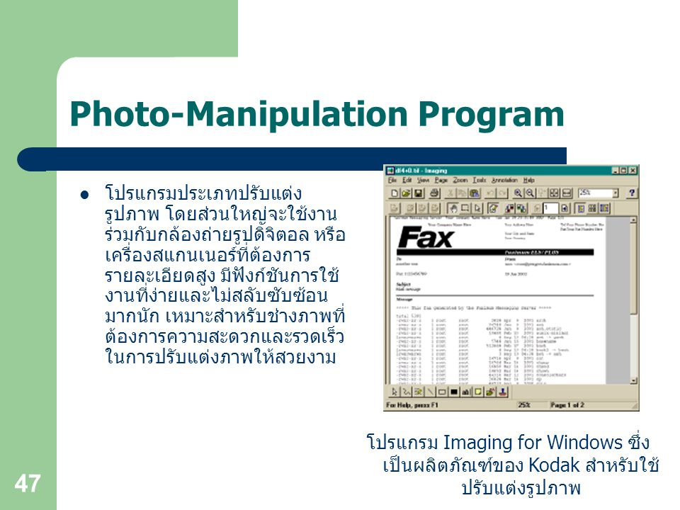 Photo-Manipulation Program