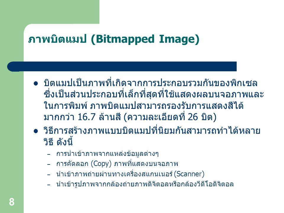 ภาพบิตแมป (Bitmapped Image)