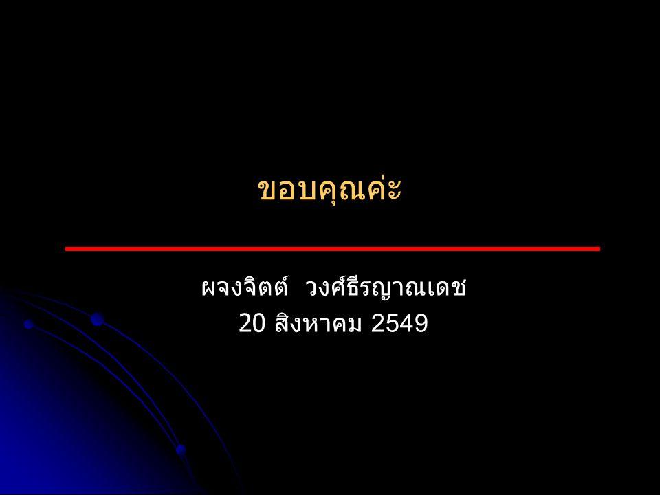 ผจงจิตต์ วงศ์ธีรญาณเดช 20 สิงหาคม 2549