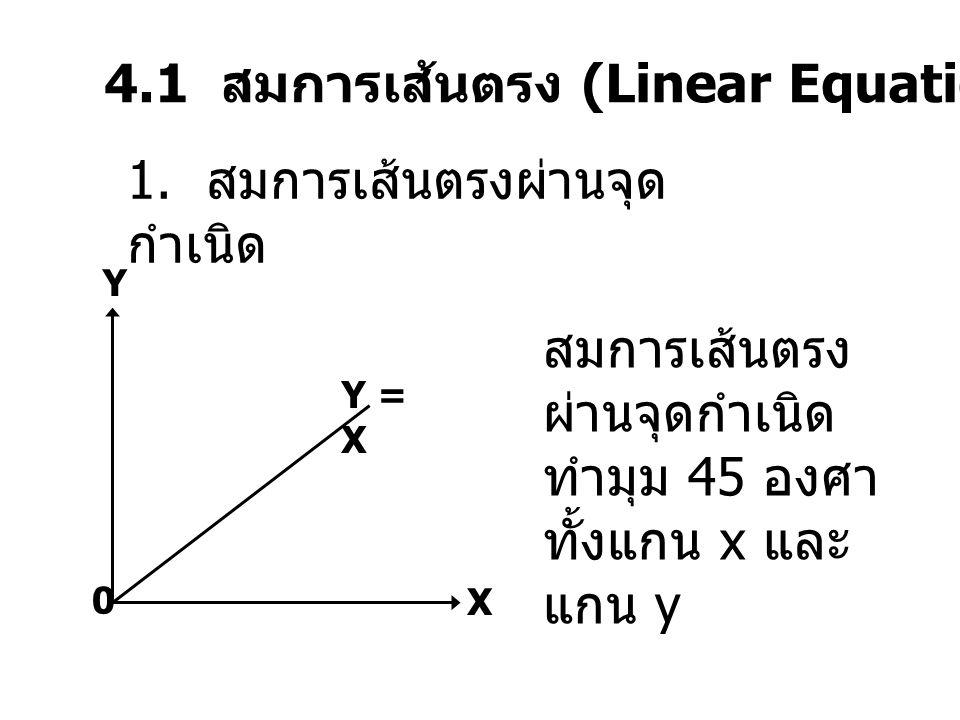 4.1 สมการเส้นตรง (Linear Equation)