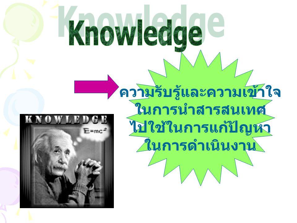 ความรับรู้และความเข้าใจ