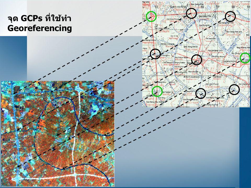 จุด GCPs ที่ใช้ทำ Georeferencing