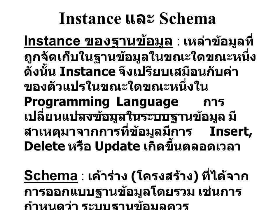 Instance และ Schema
