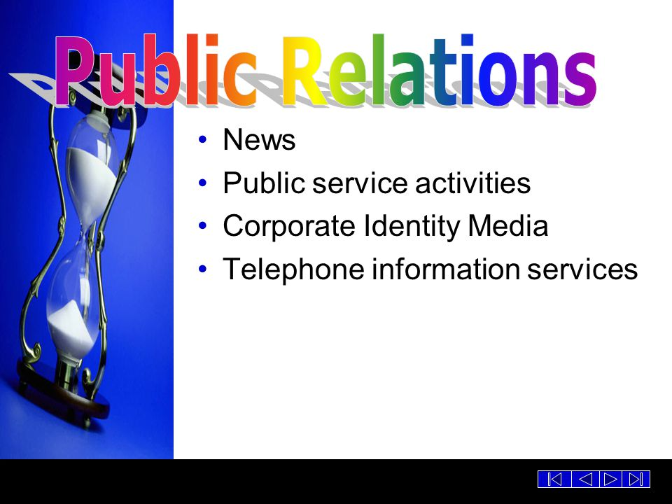 Public Relations News Public service activities