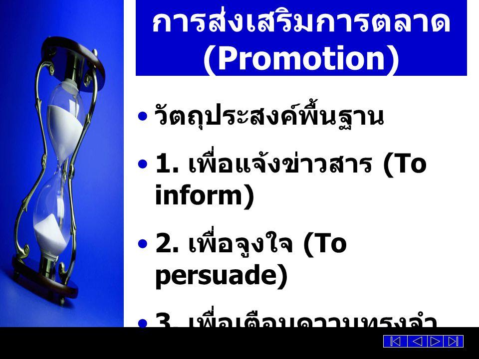 การส่งเสริมการตลาด (Promotion)