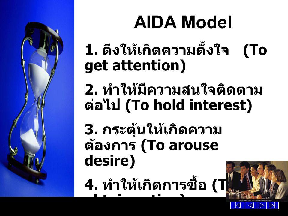 AIDA Model 1. ดึงให้เกิดความตั้งใจ (To get attention)