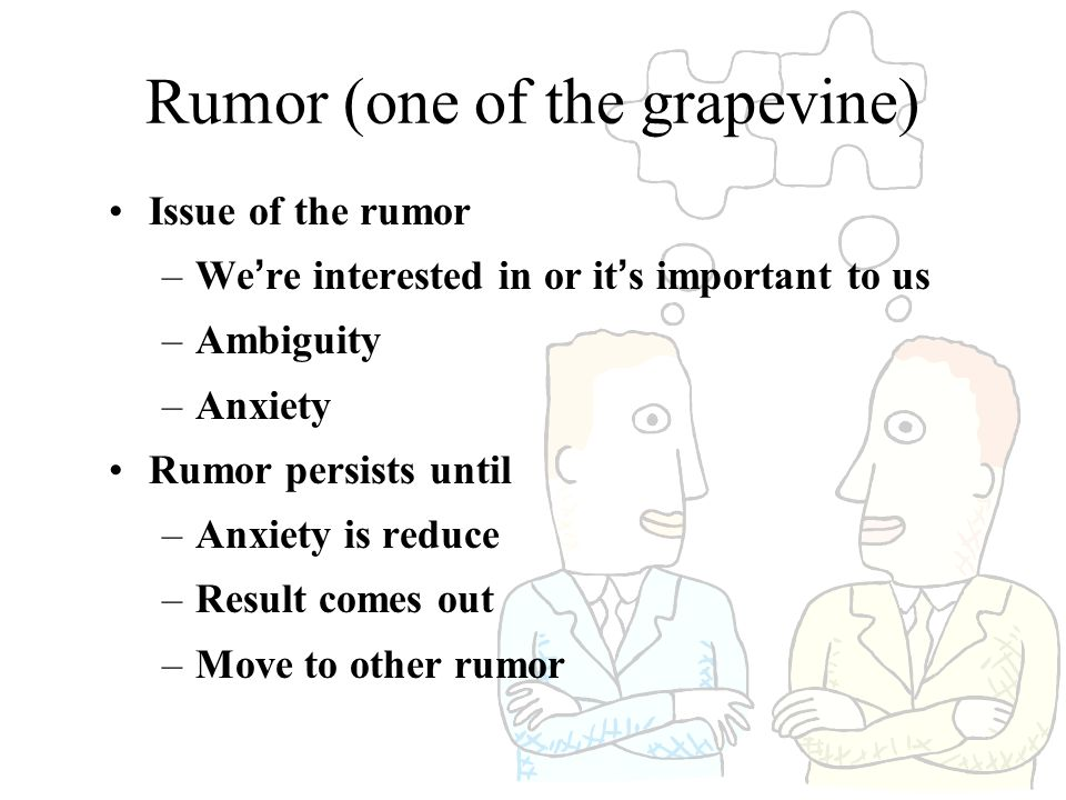 Rumor (one of the grapevine)