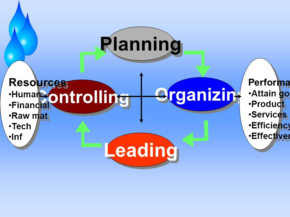 Planning Leading Organizing Controlling Resources Performance