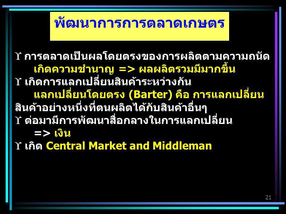 พัฒนาการการตลาดเกษตร