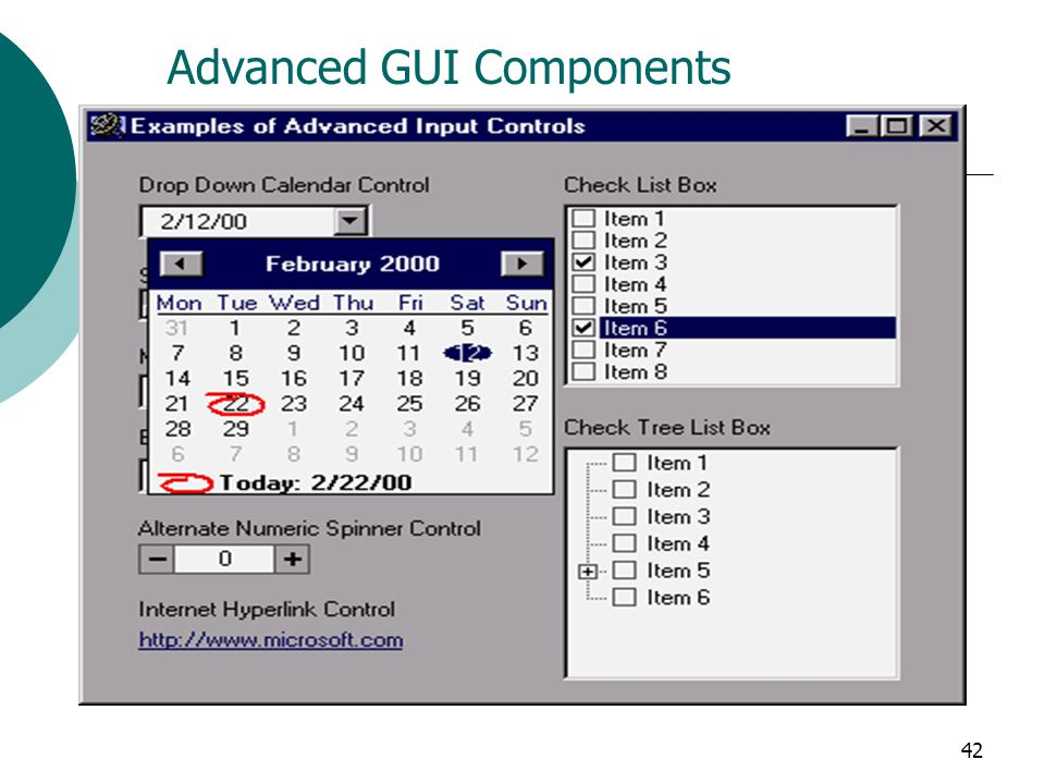Advanced GUI Components