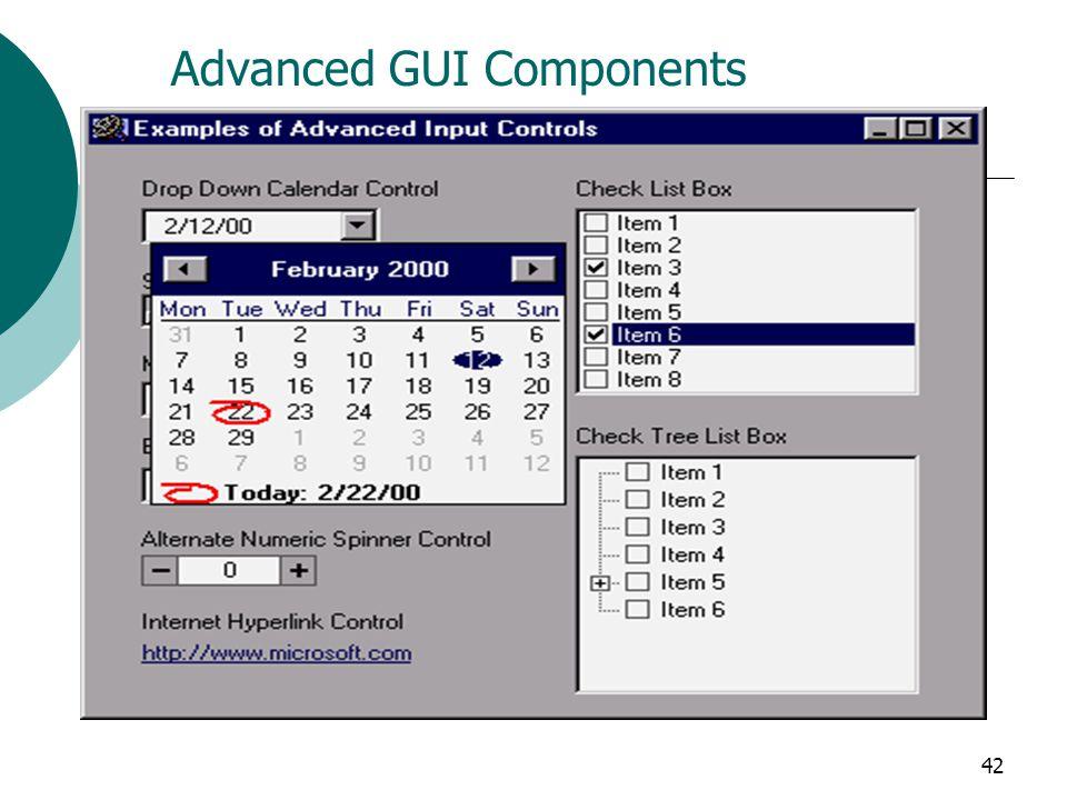 Advanced GUI Components