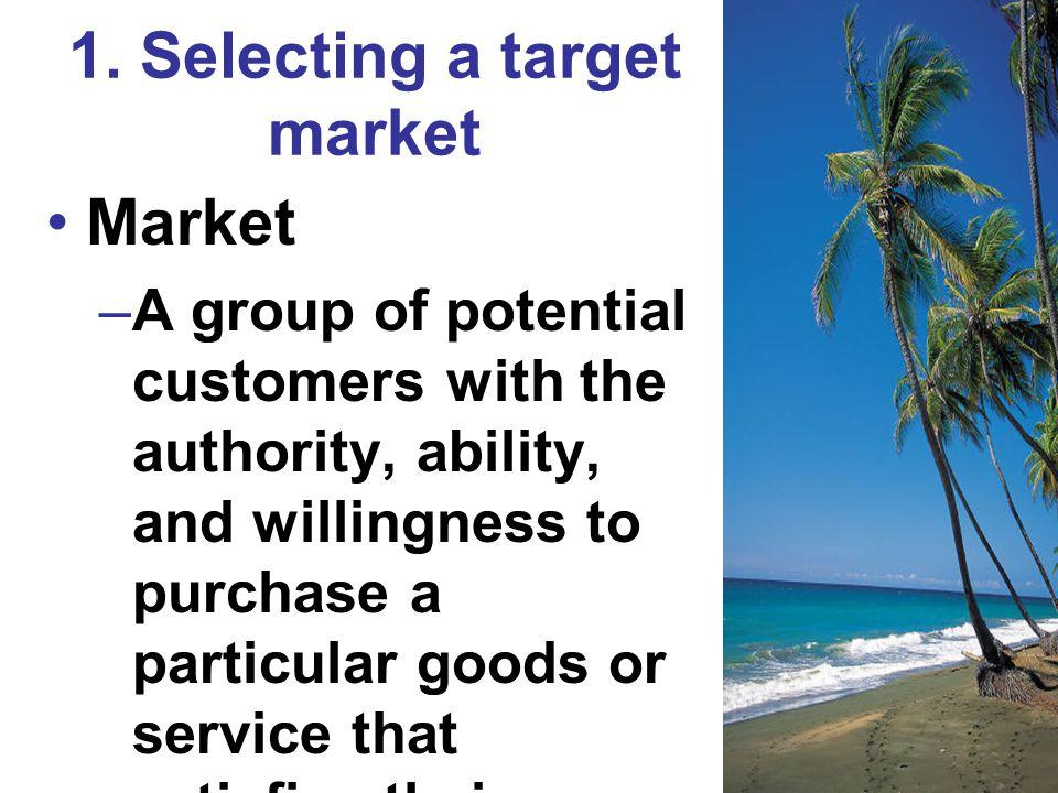 1. Selecting a target market