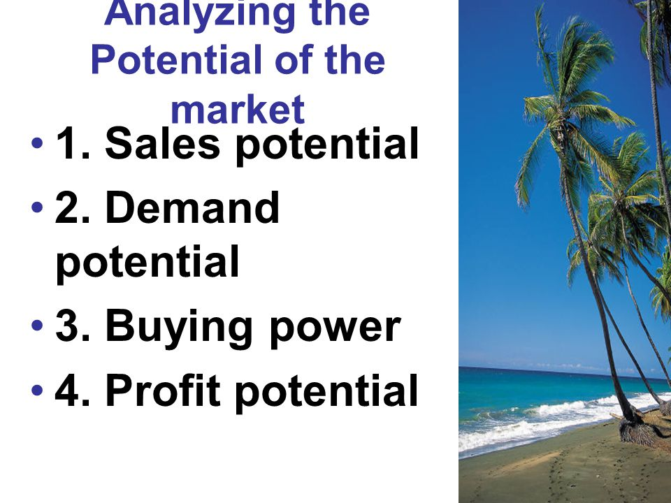 Analyzing the Potential of the market