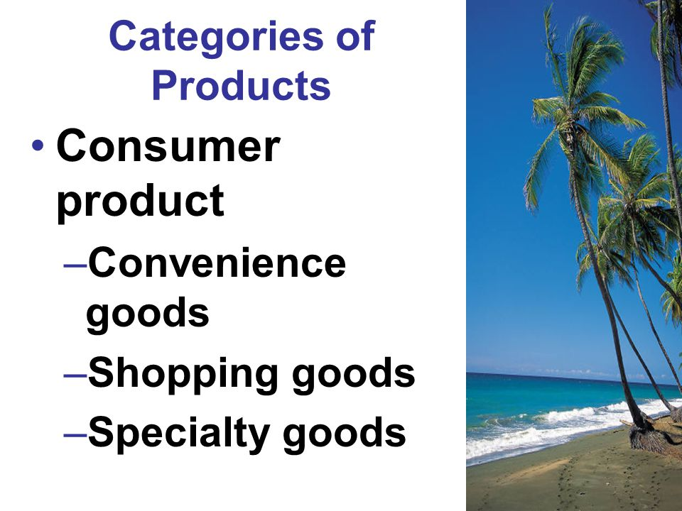 Categories of Products